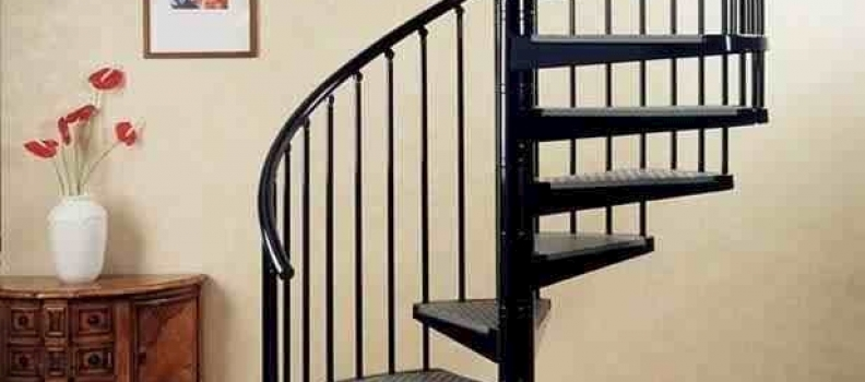 پله گرد دوبلکس فلزی